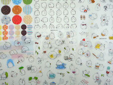 SIX pages Korean Molang bunny rabbit stickers! Kawaii chubby mochi bunnies, tea