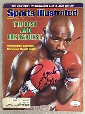 Marvin Hagler Signed Sports Illustrated Mag Boxing Auto 10/18/82 1st Cover JSA
