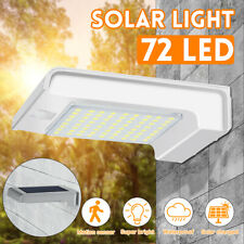 72 LED Solar Power PIR Motion Sensor Security Wall Light Outdoor Garden *