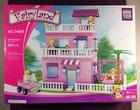 Brictek Fairy Land Country House 501 Pcs 24805 Girl Themed Pink Purple Bricks