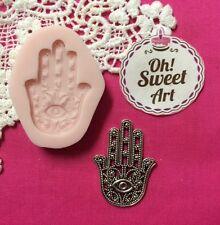 Hamsa Hand of Fatima Silicone Mold Food clay Cake wax soap cupcake topper FDA