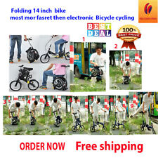 Best Small Folding bike for adults/Child 14'' inch Mini Portable Bicycle cycling