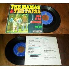 THE MAMAS & THE PAPAS - Glad To Be Unhappy French PS 7' Folk Rock 67'