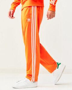 LG  adidas Originals MEN'S  adicolor  FIREBIRD TRACK PANTS  Orange/White LAST1