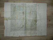 WW2 German Wehrmacht Map / Eastern Front near Leningrad / 100 % authentic / Rare