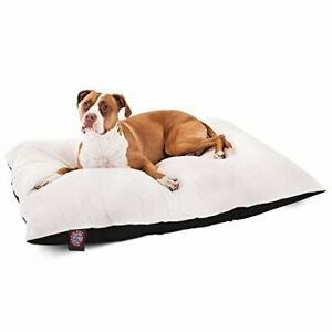 36x48 Black Rectangle Pet Dog Bed By Majestic Pet Products Large