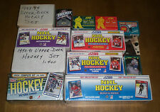 13 1990's HOCKEY CARD SETS & SMALL SETS -  SCORE - UPPER DECK - TOPPS