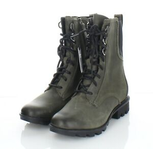 56-42 NEW $190 Women Sz 7 M Sorel Phoenix Lace Waterproof Boots In Alpine Tundra