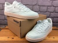 REEBOK LADIES UK 6 EU 39 CLUB C 85 TRAINERS EMERALD ICE / PAPERWHITE RRP £75 M