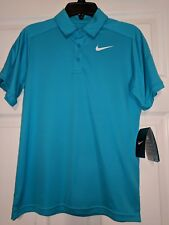 Nike Boy's Dri Fit Polo Size Youth S Small - Blue