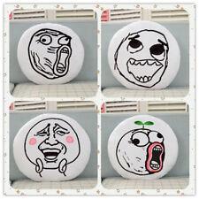 Creative Funny Expression Rage Bd Round Jeter Oreiller Peluche Clic Clac Voiture