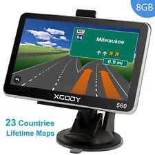 "XGODY 5"" HD GPS Navigation System w/Speedcam Lifetime Maps 8GB Navigator Sav Nav"