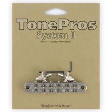 NEW Tone Pros T3BP-N Nashville Tunematic Bridge for Gibson Les Paul - NICKEL