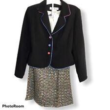 Nwt J.K. Collection Junior kraze Girls Small S Black 3 Piece Skirt Set $129 z