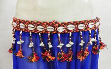Vintage Kuchi Tribal Rabari Cowrie Belt Belly Dance Hip Scarf Jewelry Tassle ATS