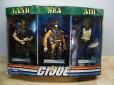 "GI Joe Land Air Sea 1/6 Toys R Us 12"" 2008 Doll Figure Scuba Diver Pilot Army"