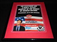 Jon Stewart Indecision 2000 Framed ORIGINAL Vintage Advertisement Daily Show