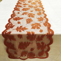 Maple Leaf Lace Table Runner Perfect for Fall Dinner Parties Restaurant Decor