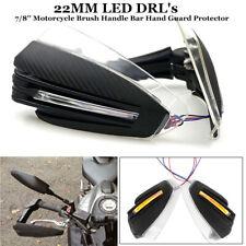 22MM LED 7/8''Style Motorcycle Turn Signal Brush Handle Bar HandGuard Protector