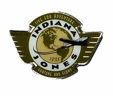 Indiana Jones Global Earth and Plane Logo Metal Enamel Costume Pin