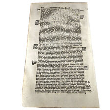 LARGE 1700's German Folio Manuscript Book Leaf - Decor Document Old Antique