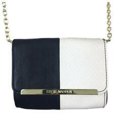 Steve Madden Crossbody Bag color block black white vegan animal leather
