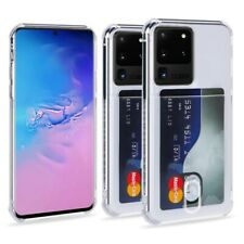 Phone Case For Samsung Galaxy S8 S9 S10 S20 Ultra TPU Silicone with Card Slot