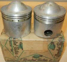 "1959 Matchless G12 650cc NOS 72mm +080"" Italian Mondial #4394 PAIR pistons - 111"