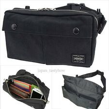 Yoshida PORTER Smokey Waist Messenger Shoulder Bag 592-07507 New Black