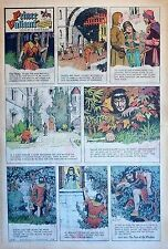 Prince Valiant by Hal Foster - scarce full page Sunday comic - December 21, 1969