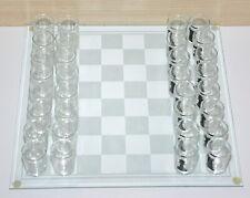 Scacchiera in vetro scacchi pedoni bicchiere vodka shot
