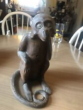 Rare 1920s Hubley Cast Iron Monkey Doorstop