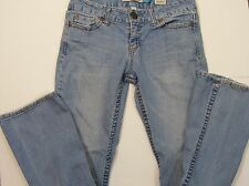 "Aeropostale Women's Juniors Curvy Jeans Size 3/4 Inseam 29"" Slightly Distressed"