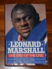 THE END OF THE LINE LEONARD MARSHALL W/ DAVE KLEIN HC DJ 1987 **SIGNED COPY**1ST