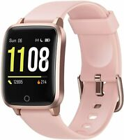 Fitness Trackers with Heart Rate Monitor Smart Watch, Activity Tracker (Pink)