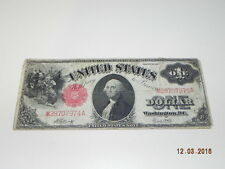 Vintage United States One Dollar Bill $1   1917  SS # M28707974A Red Seal   Rare