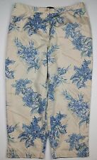 Axcess A Liz Claiborne Company Stretch Floral Cropped Women's Pants - Size (12)