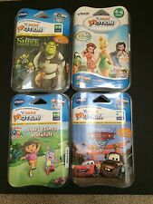 vtech V.Smile Motion 4 Games Lot Dora Shrek Disney Fairies Disney Cars 2  NIP
