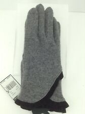 Women's RALPH LAUREN Gray WOOL-CASHMERE Gloves - L - $45 MSRP