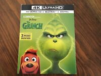 The Grinch (4K UHD,/Blu-Ray, 2018, Includes Slipcover)