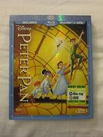 Peter Pan (Blu-ray/DVD, 2013, 2-Disc Set, Diamond Edition) **New w/ SLIPCOVER**