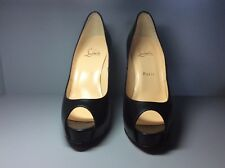 Women's black Christian Louboutin hills size 39,5 small fit insole 24.5 cm