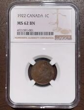 1922 Canada Small Cent NGC MS62BN Key Date Retains A Lot Of Luster And Some Red