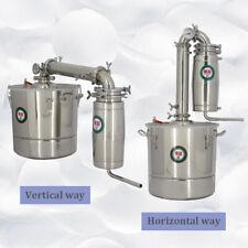50L Casa Distillatore Acqua per Oli Essenziali Grappa Alambicco Acciaio Inox