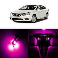 6 x Pink LED Interior Light Package For 2013 - 2017 Nissan Sentra + PRY TOOL