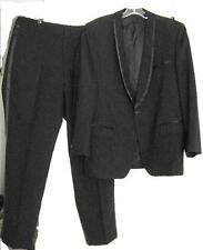 Vintage Black Tuxedo 1960's Jacket & Pants Size 40 Short Dated Nov. 29Th 1968