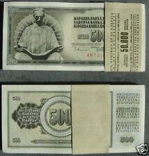 100 Pieces Yugoslavia 500 Din Banknotes 1978 UNC