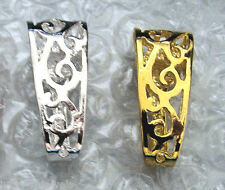 2 LG INTERCHANGEABLE SLIDE Pearl Enhancer Donut Bails 1 Gold and 1 Silver Plated