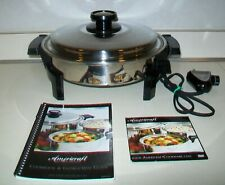 Kitchen Craft Americraft Liquid Core Electric Skillet Dvd Cookbook Instruction