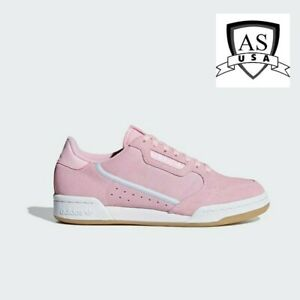 Adidas Continental 80 Pink White Suede Womens Sz 8.5 Sneakers Running G27720 NEW